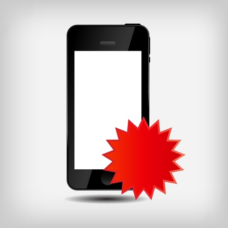 Abstract mobile phone vector illustration Stock Vector - 16731836