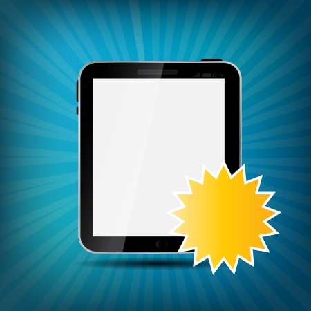 Abstract digital tablet vector illustration Vector