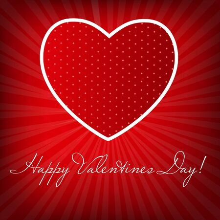 Happy Valentines Day card with heart  Vector illustration Stock Vector - 16731841