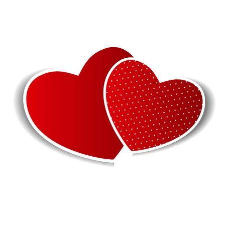 Happy Valentines Day-Karte mit Herz Vektor-Illustration Vektorgrafik