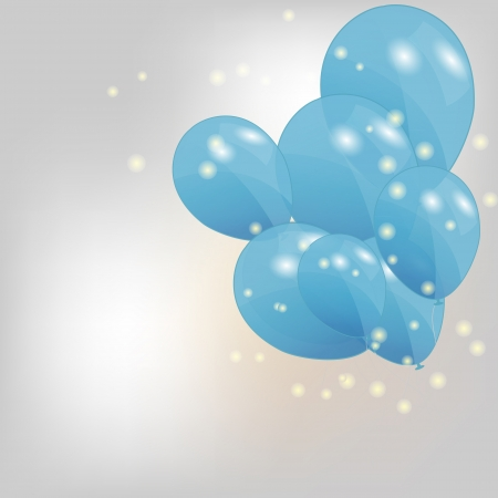set of colored balloons, vector illustration  EPS 10  Vector
