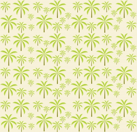 Palm trees seamless pattern  Vector illustration  EPS 10