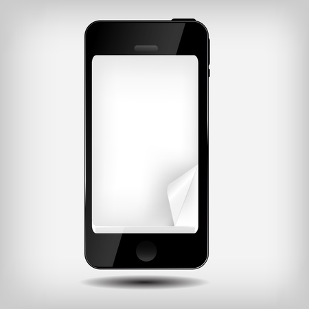 Abstract mobile phone vector illustration Stock Vector - 16732061