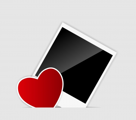 blank  Instant photo with heart Stock Vector - 16456537