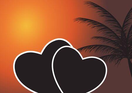 Heart in the sunset  Vector illustration  EPS 10 Stock Vector - 16514505