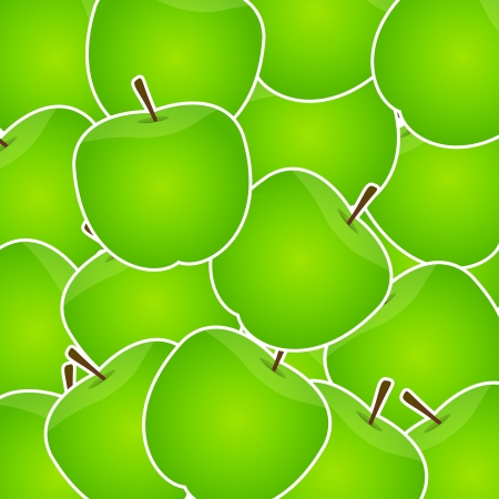 granny smith apple: Apples sweet background vector illustration Illustration