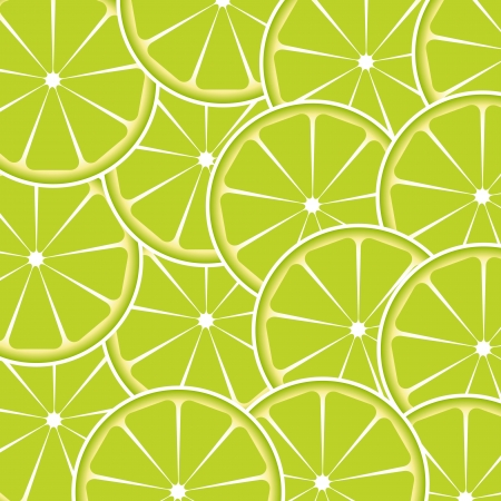 Lime fruit abstract background vector illustration Vector