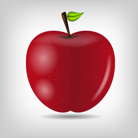 freefall: Sweet tasty apple  illustration