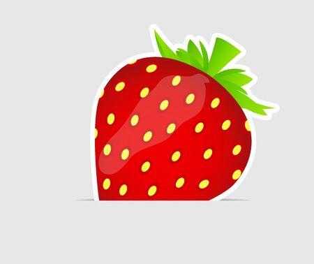 Sweet tasty strawberry  illustration Stock Vector - 16567473