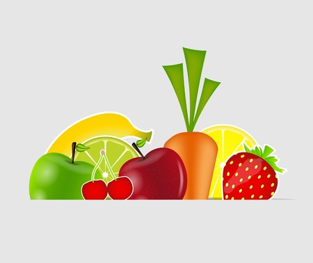 fresh fruits  illustration Stock Vector - 16567387