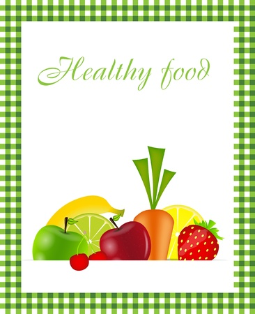 Healthy food menu template  illustration Stock Vector - 16567391