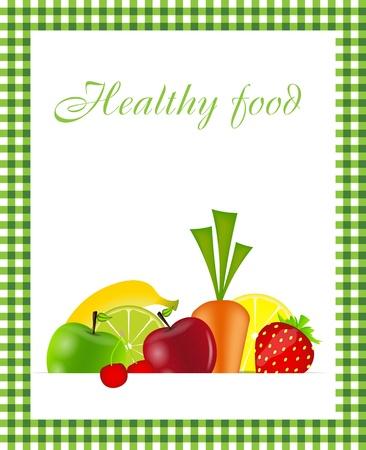 Healthy food menu template  illustration