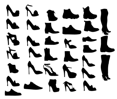 fetishes: Shoes silhouette  illustration