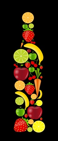 fresh fruits  illustration Stock Vector - 16585062