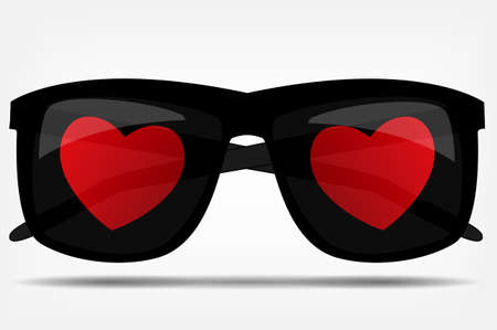 Sunglasses with a heart  illustration Stock Vector - 16585051