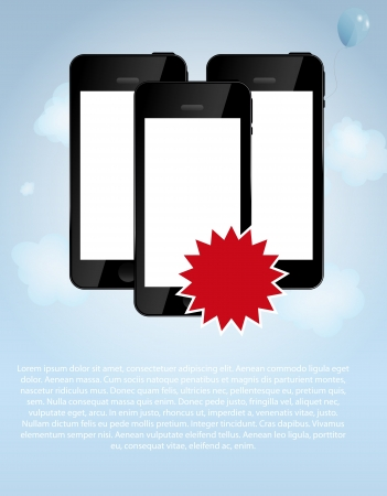 template for smart phone and mobile phone company illustr Vector