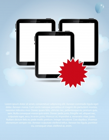 template for smart phone and pad company illustration illustration
