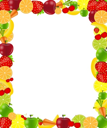 Fruit frame illustration Vector