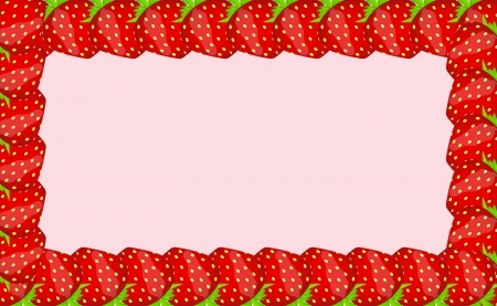 Strawberry frame illustration Vector