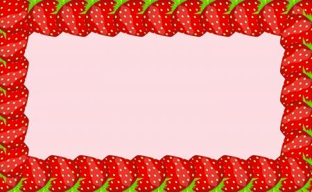Strawberry frame illustration Stock Vector - 16604878