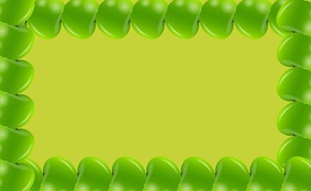 bushel: Apple frame illusttration