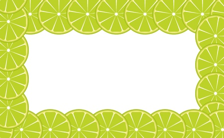 Orange  lime  frame illustration Stock Vector - 16604856