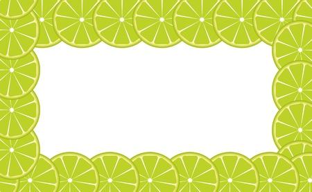 Orange  lime  frame illustration Stock Vector - 16604856