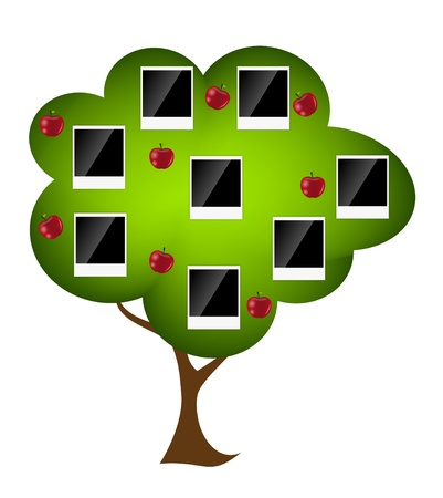 love picture: Family tree vector illustration
