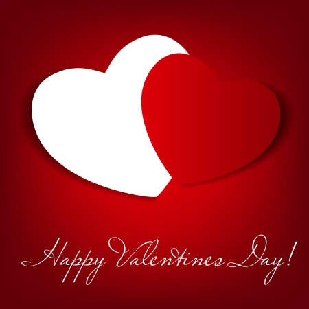 Happy Valentines Day card con il cuore illustrazione vettoriale photo