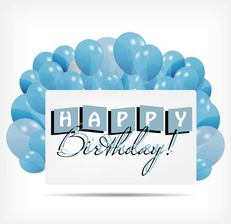 Gift card with balloons vector illustration Vector