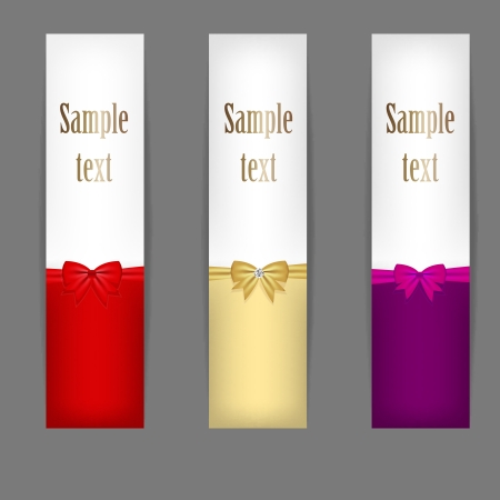 Set of three banners with ribbons   Stock Vector - 16711272