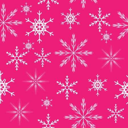 seamless snowflakes background   Vector illustration Stock Vector - 16984959
