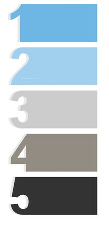One two three four five - vector progress icons for five steps Stock Vector - 16984952