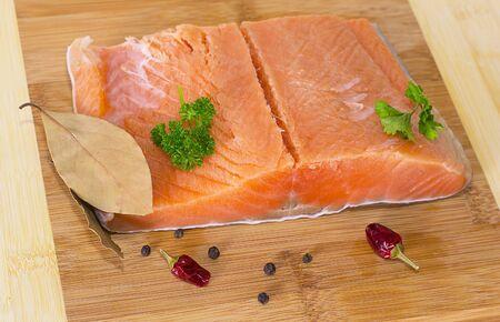 fresh salmon fillet Stock Photo - 17014655