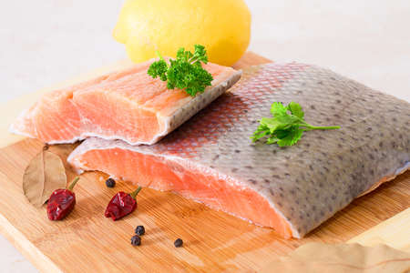 fresh salmon fillet Stock Photo - 17014654