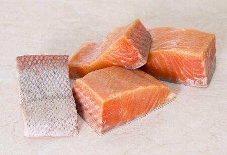 fresh salmon fillet Stock Photo - 17014652