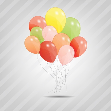 set of colored ballons,  illustration    illustration