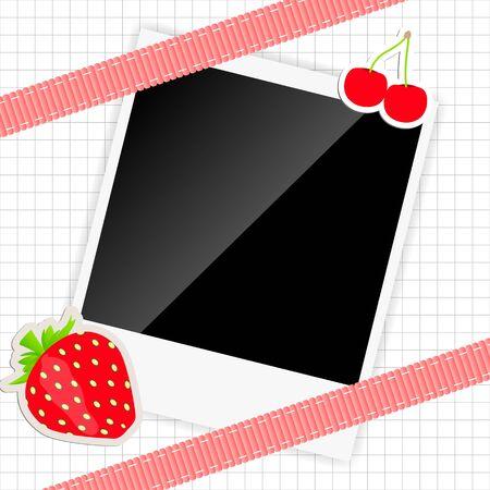scrapbook elements with photos frame  illustration Stock Illustration - 17068583