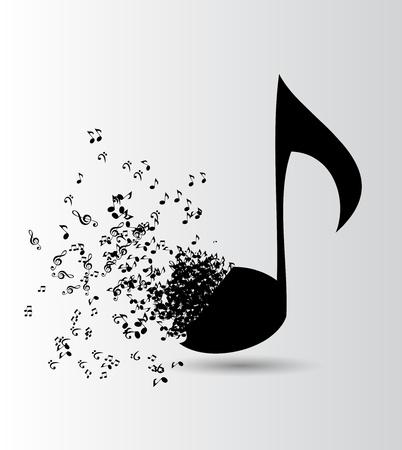 electronic music: Astratto musica di illustrazione vettoriale per il tuo design Vettoriali