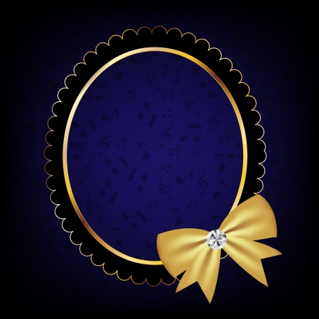 vintage frame with bow  illustration Stock Vector - 17068606