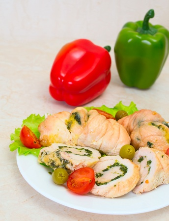 Tasty stuffed Chicken Salad Stock Photo - 17124030