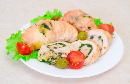 Tasty stuffed Chicken Salad   Stock Photo - 17124036