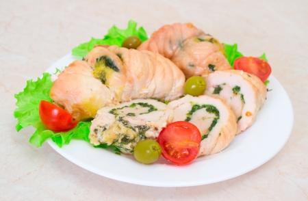 Tasty stuffed Chicken Salad Stock Photo - 17124036
