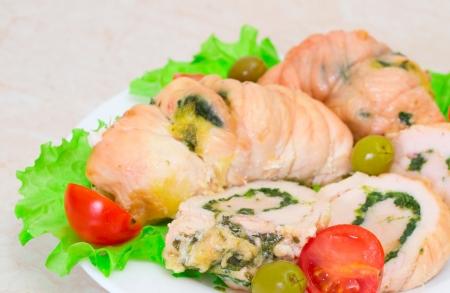 Tasty stuffed Chicken Salad Stock Photo - 17124042