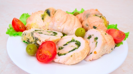 Tasty stuffed Chicken Salad   Stock Photo - 17124034