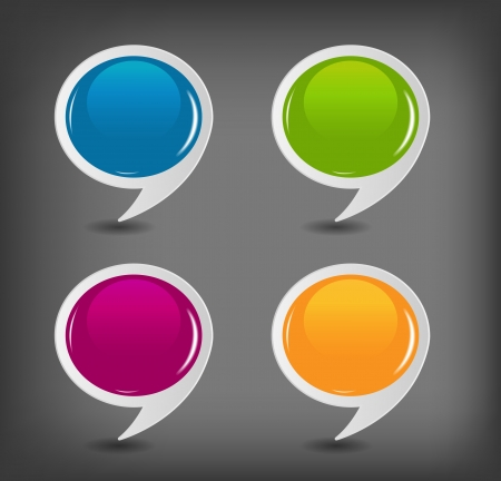 Speech bubbles set illustration Vector