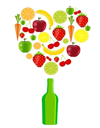 fresh fruits vector illustration Stock Vector - 17248803