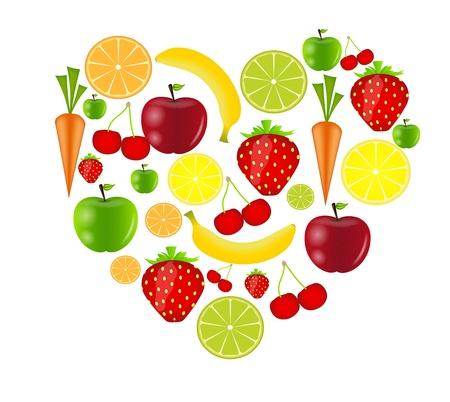 fresh fruits vector illustration Stock Vector - 17248802
