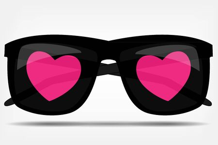 Sunglasses with a heart vector illustration Stock Vector - 17248806