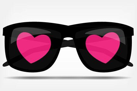 taoist: Sunglasses with a heart vector illustration